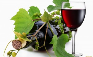 grape-leaves-and-a-glass-of-wine
