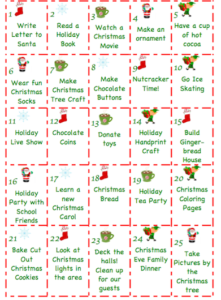 graphic regarding Printable Christmas Calendar identify Absolutely free Printable Arrival Calendar - An Amore Household Society